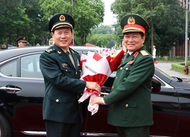 Vietnamese Chinese defence ministers hold talks