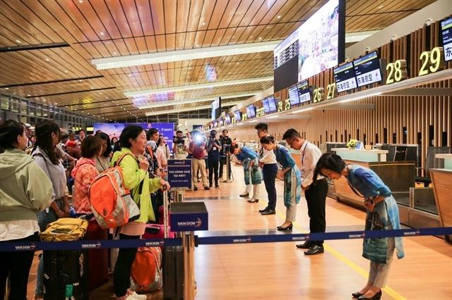 Vân Đồn Airport receives first international flight