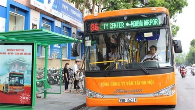 New bus route to Nội Bài airport opens in June