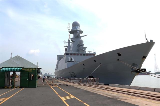 French naval frigate Forbin visits HCM City