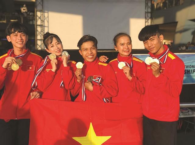 Việt Nam win 72 medals at ASEAN Taekwondo Championship