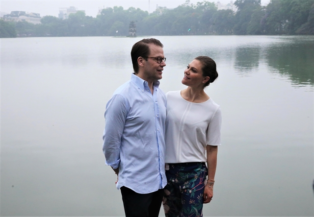 Swedens crown princess Victoria had a taste of peaceful Hà Nội