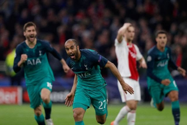 Lucas hat-trick takes Tottenham to Champions League final and breaks Ajax hearts