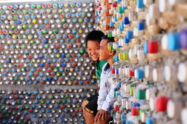 Islander builds house from recycled plastic bottles sets up homestay