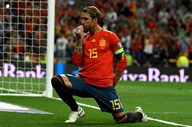 Ramos and Morata on the spot as Spain cruise past Sweden