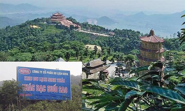 Pagodas and temples illegally built in forest land