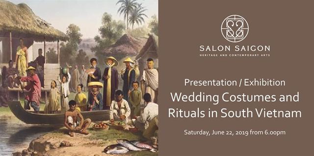 Wedding costumes rituals in southern VN at Salon Saigon