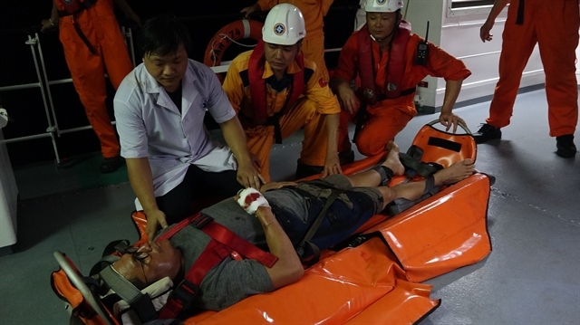 Injured Filipino seaman rescued off Đà Nẵngs coast