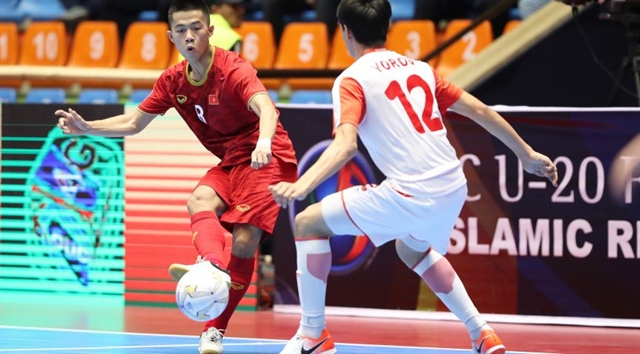 Việt Nam enter quarter-finals of AFC U-20 futsal champs