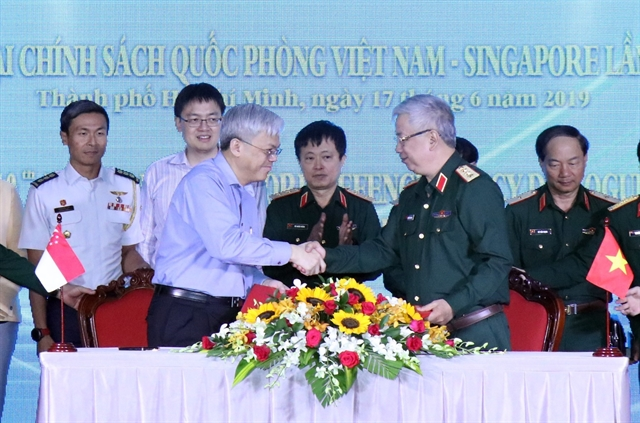 Việt Nam Singapore hold 10th defence policy dialogue