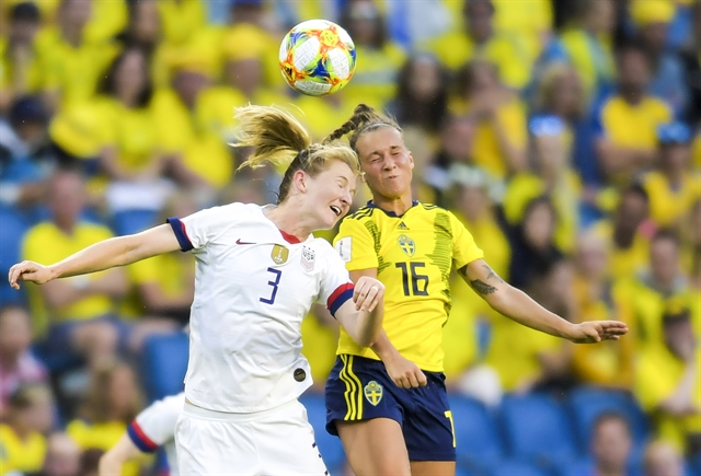 USA beat Sweden to continue Womens World Cup march