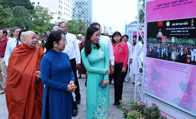Photo exhibition on Việt Nam Fatherland Front of HCM City