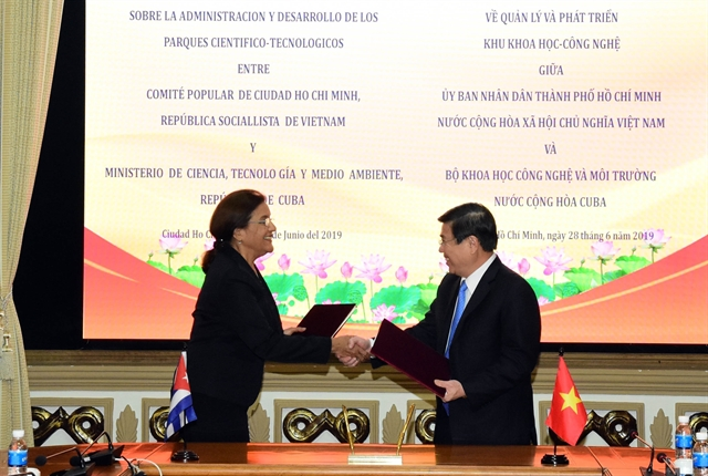 HCM City signs deal with Cuba on science-technology co-operation
