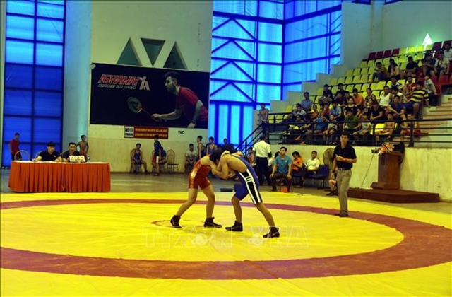 Wrestling tournament for young athletes held in Tuyên Quang