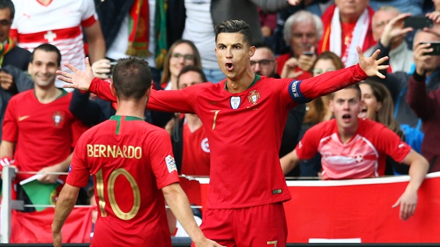 Genius Ronaldo hat-trick sends Portugal into Nations League final