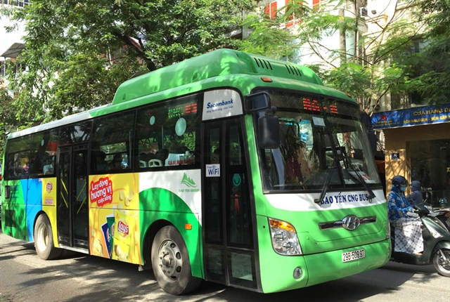 Hà Nội to have four more bus routes with CNG vehicles