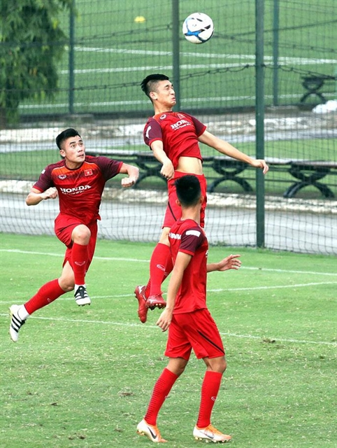 Việt Nam Myanmar in friendly warm-up for SEA Games