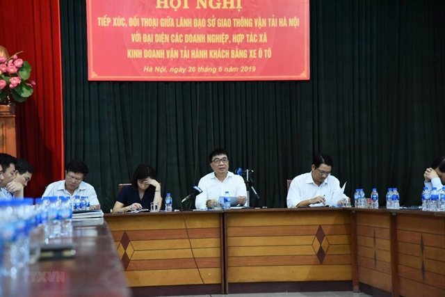 Hà Nội holds talks with transport enterprises about enforcement of bus policies