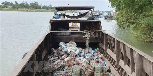 Seven tonnes of smuggled iron scrap seized in Việt Nam