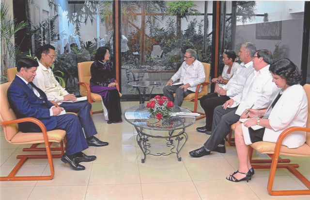 Vice President meets Cuban leaders to enhance ties