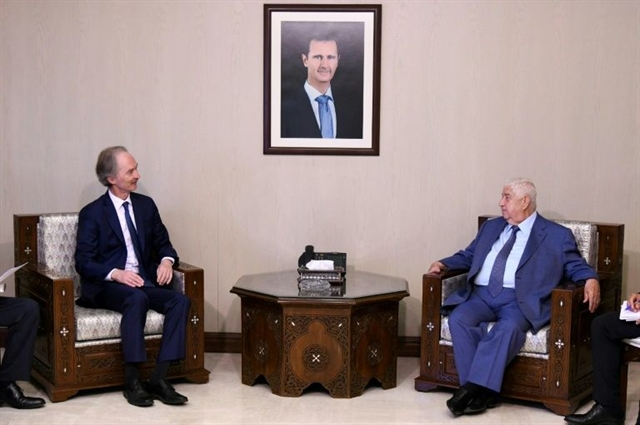 Syria UN envoy say progress towards talks on post-war constitution