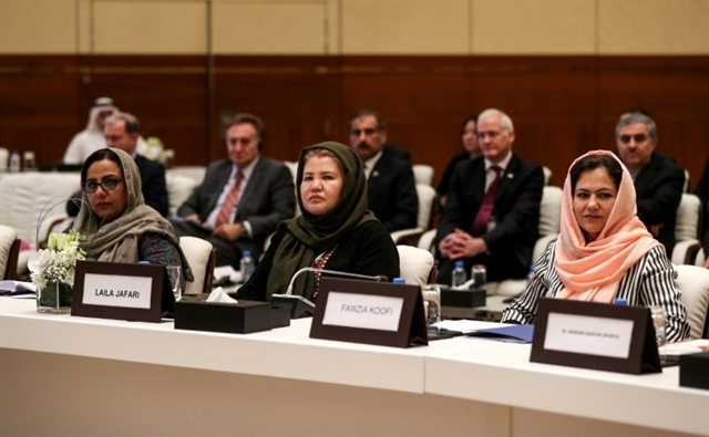 Afghan women note Taliban shift after Doha talks