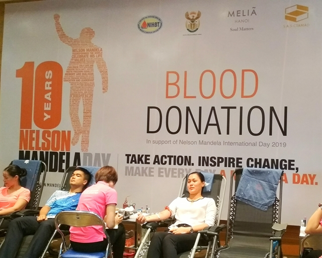 Blood donation drive marks Nelson Mandela International Day
