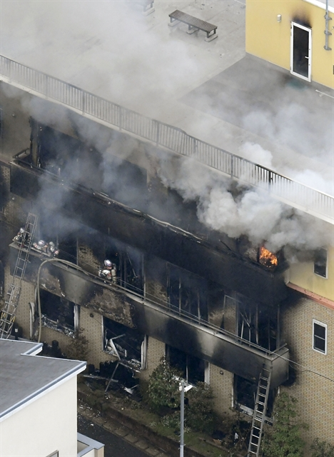 Japan in shock after suspected arson kills 33