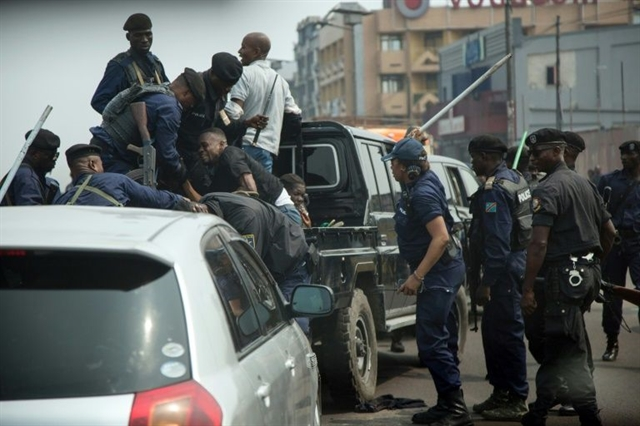 DR Congo police say protester shot at banned rally is alive