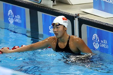 Viên fails to advance at World Swimming Champs