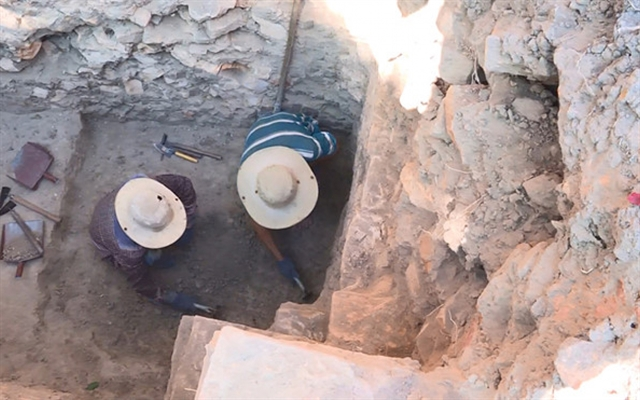 Ancient Chăm tower excavated in central province