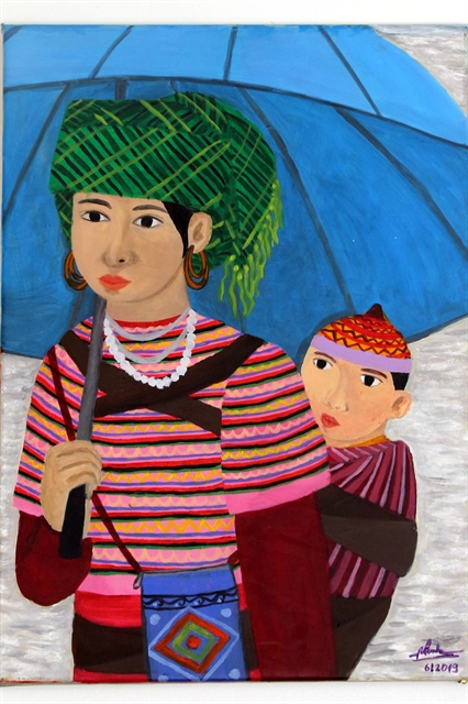 Painting by hearing-impaired Vietnamese artist on display in Italy
