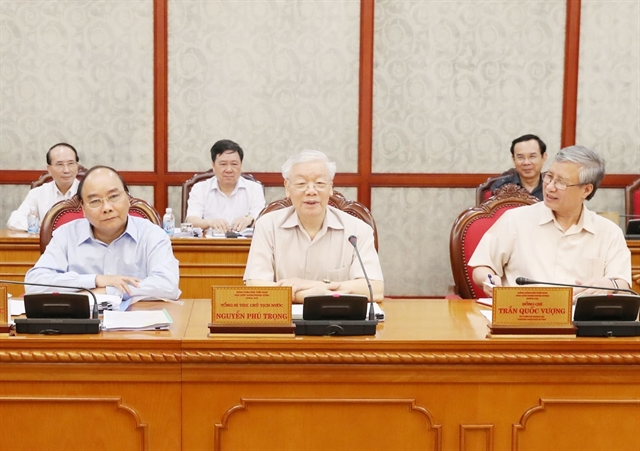 State President Party General Secretary Nguyễn Phú Trọng chairs Politburo meeting