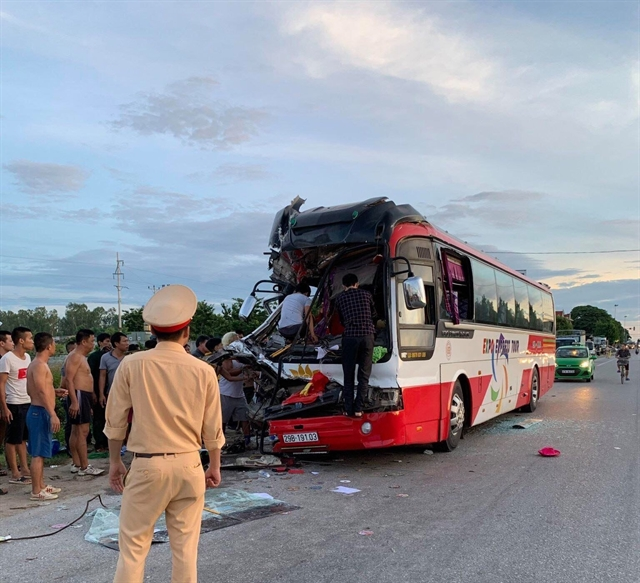 One dies 14 injured in accident