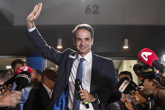 PM-elect Mitsotakis vows to make Greece proud after vote triumph