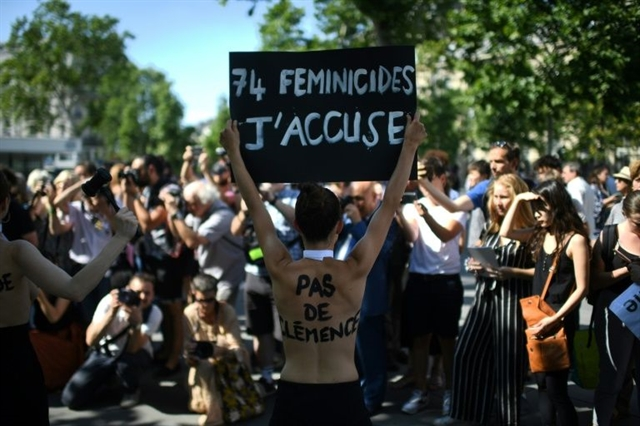 France open debate on femicide domestic violence in September
