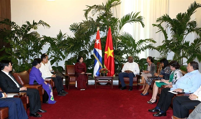 Vice Presidents discuss ways to reinforce Việt Nam-Cuba relations