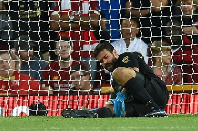 Liverpool keeper Alisson out for next few weeks says Klopp