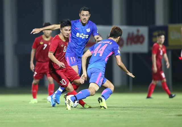 Việt Nam U22s beat Kitchee 2-0 in friendly