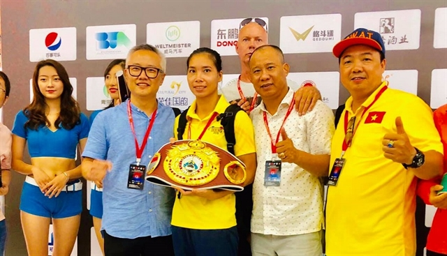 Linh takes WBO belt after winning first professional fight