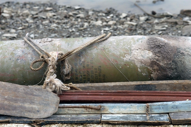 Unexploded bomb from American war discovered in Hải Phòng City