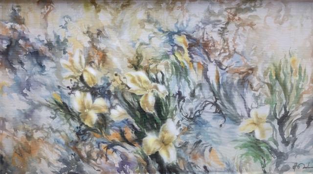 Veteran artists show silk paintings in Hà Nội