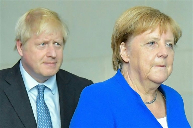 During Johnson visit Merkel voices hope on avoiding Brexit chaos