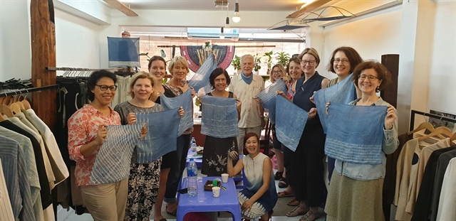 FVH craft workshop on ethnic minority indigo dyeing