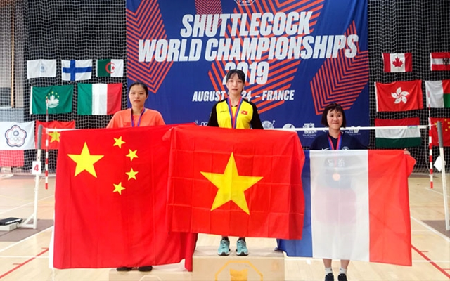 Việt Nam win three golds at world shuttlecock champs