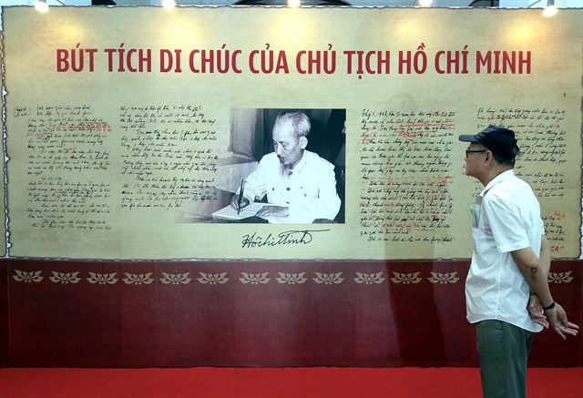 Exhibition features 50 years of implementing President Hồ Chí Minhs testament