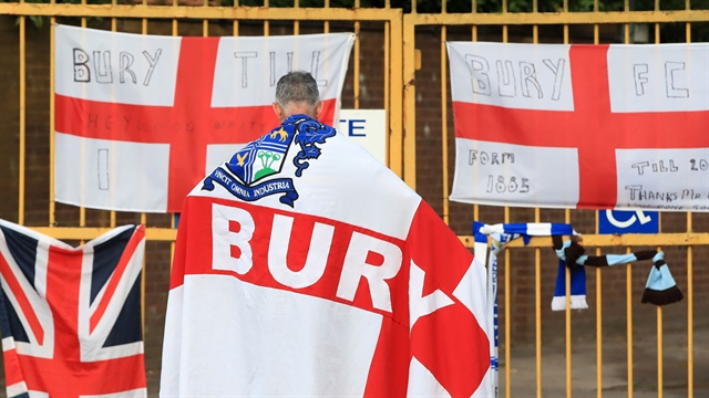 Historic club Bury expelled from English Football League