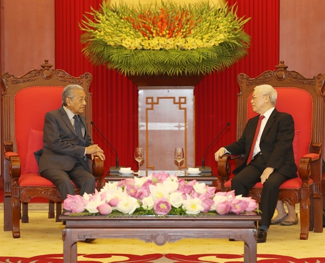 Party leader President receives Malaysian Prime Minister