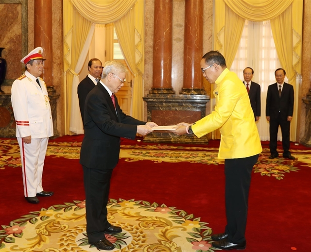 Party State leader receives new ambassadors