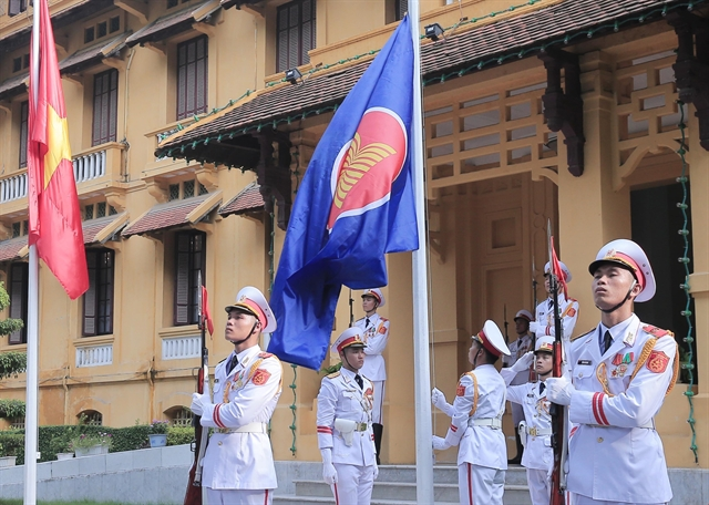 ASEAN flag hoisting ceremony celebrates groupings 52nd anniversary